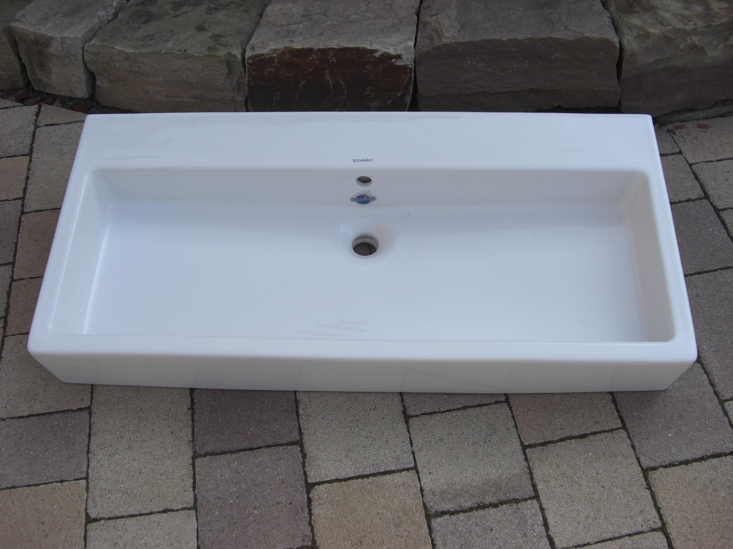 waschbecken duravit vero 100cm ein hahnloch mit berlauf. Black Bedroom Furniture Sets. Home Design Ideas