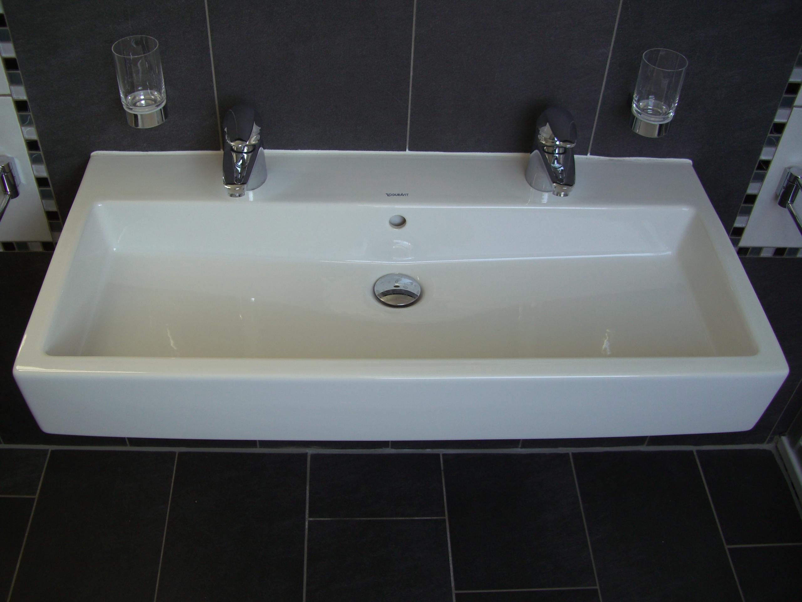 Bilder zu Waschbecken Duravit Vero, Doppelwaschtisch 100cm, weiß ...