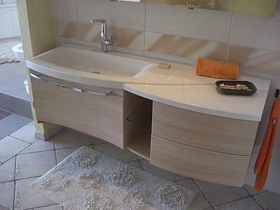 burgbad sinea 1 0 waschtisch mit unterschrank 160 5cm version links wei hochglanz. Black Bedroom Furniture Sets. Home Design Ideas