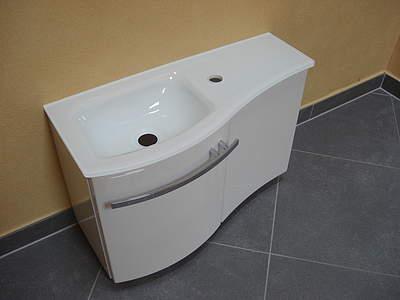 Gäste wc waschtisch mit unterschrank