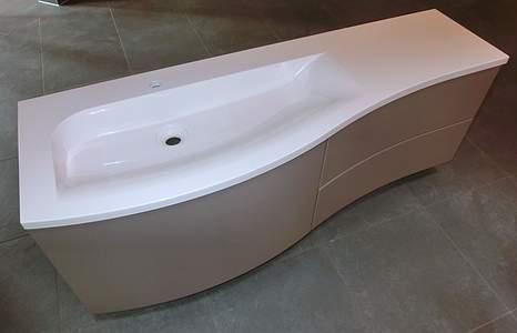 burgbad sinea 1 0 waschbecken mit unterschrank links. Black Bedroom Furniture Sets. Home Design Ideas