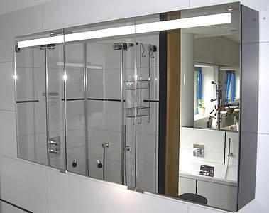 Burgbad crono spiegelschrank 160cm mit waschtischbeleuchtung spfs160f1811 bambus natur bernd - Spiegelschrank bambus ...