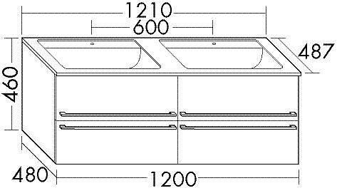 burgbad bel waschtisch unterschrank mit 4 ausz gen und. Black Bedroom Furniture Sets. Home Design Ideas
