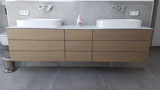 burgbad crono aufsatzwaschtisch mit unterschrank und. Black Bedroom Furniture Sets. Home Design Ideas
