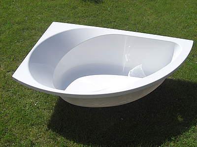 hoesch spectra eckbadewanne wei version links acryl 170 x 100cm nutzinhalt 200 liter. Black Bedroom Furniture Sets. Home Design Ideas