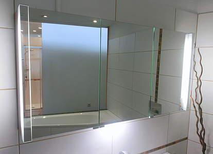 Burgbad Bel Spiegelschrank 160cm mit vertikaler LED-Beleuchtung und ...