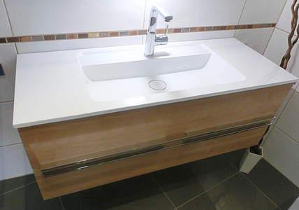 Burgbad Bel Waschtischunterschrank mit 2 Auszügen und Waschtisch ...
