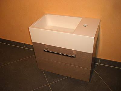 suchergebnis f r 39 burgbad waschbecken mit unterschrank sinea g ste bad waschtisch rechts. Black Bedroom Furniture Sets. Home Design Ideas