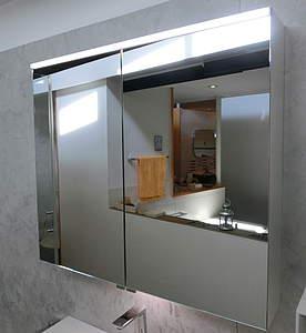 burgbad eqio spiegelschrank 65cm mit led beleuchtung waschtischbeleuchtung eiche dekor. Black Bedroom Furniture Sets. Home Design Ideas