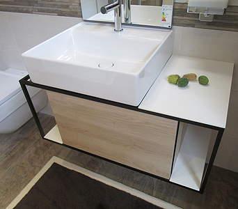 Turbo Burgbad Junit Keramikwaschtisch mit Waschtischunterschrank 90cm XW66