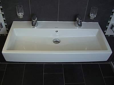 ... 0454100024 Waschbecken Duravit Vero, Doppelwaschtisch 100cm, Weiß;  0454100024