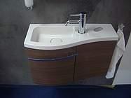 burgbad sinea 1 0 waschtisch mit unterschrank version links wtu065elf1731 marone dekor tr ffel. Black Bedroom Furniture Sets. Home Design Ideas